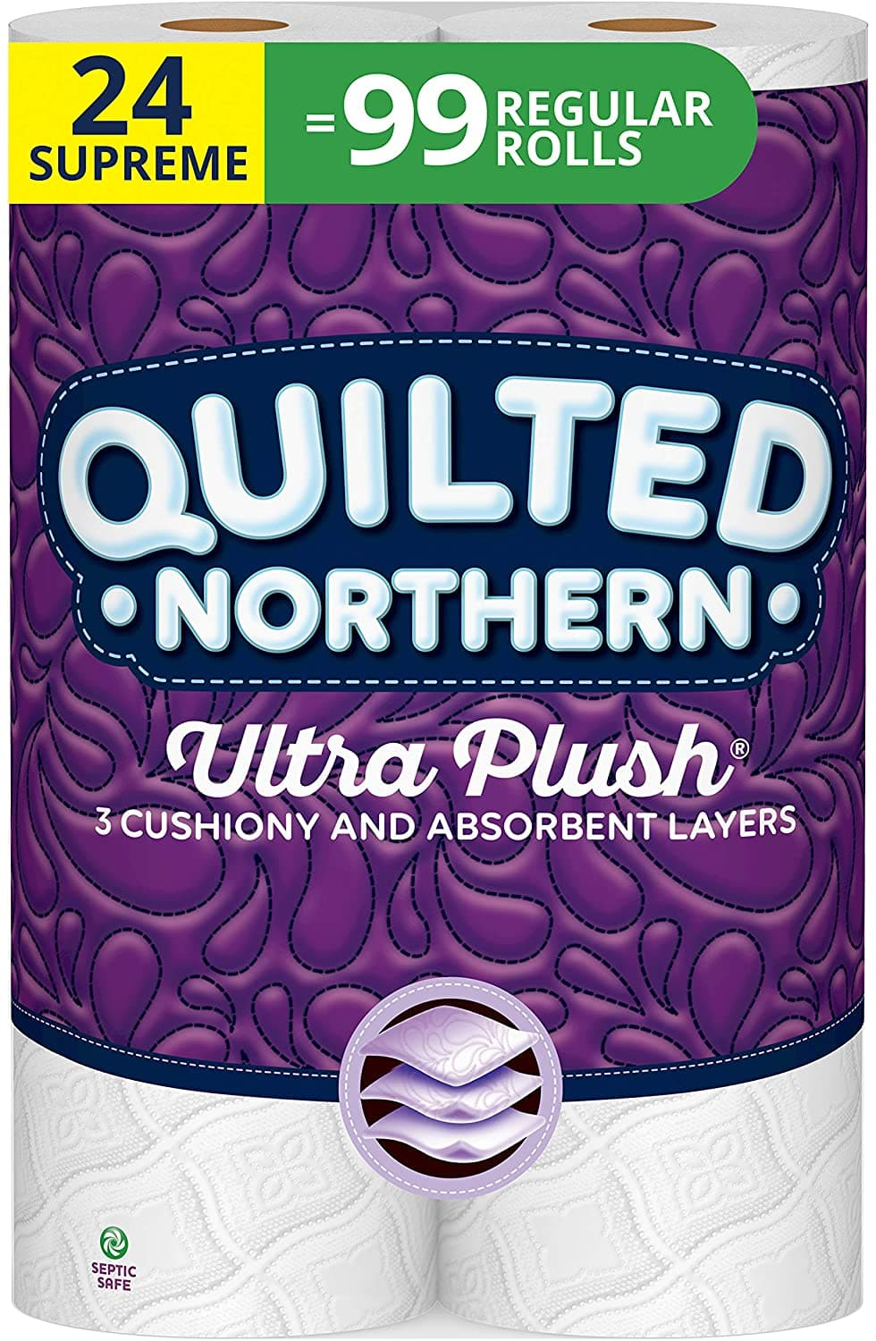 Quilted Northern Ultra Plush Toilet Paper, 319 3-Ply Sheets Per Roll, 8 Count, Pack of 3 $27.99