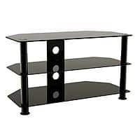"""Kmart Deal: Black glass & metal tv stand for up to 42"""" tv kmart in store $20"""