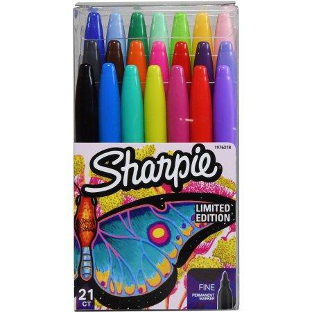 Sharpie Permanent Markers, Fine Point, Assorted Colors, 21 ct Walmart BM YMMV $1