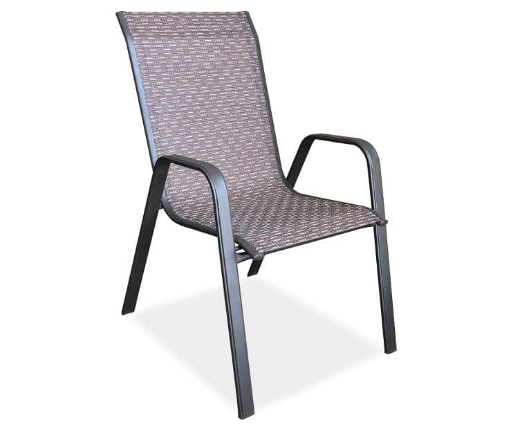 $12 Wilson and Fisher Ashford Brown Sling Patio Chair at Big Lots B&M
