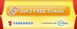 Get 2 free Fandango movie tickets via Trialpay (Blockbuster deal: 1st month free)