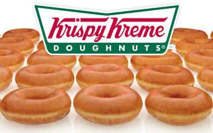 Sign up for Krispy Kreme's e-club and get FREE dozen original glazed doughnuts.  - YMMV