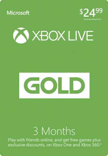 3 Month Xbox Live + free $10 Microsoft GC at Best Buy
