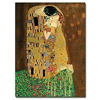 """The Kiss"" by Gustav Klimt Canvas Art Print + $  27.16 @ homedepot.com"