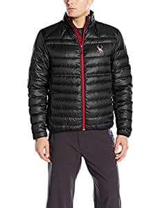 Spyder Prymo Down Jacket (men's) black/silver/red/charcoal $65+ for many S/M/L sizes - Amazon