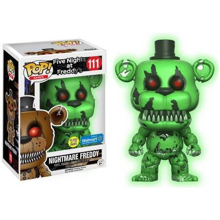 POP Games: Five Night's at Freddy's Glow in the Dark Nightmare Freddy Walmart Exclusive $2.99 Free Store Pickup