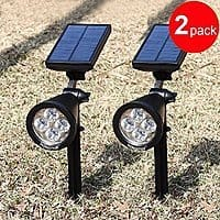 Amazon Deal: [2 Pack] 200 Lumens Solar Wall Lights / In-ground Lights: $32.99 @ Amazon and FS w/ Prime