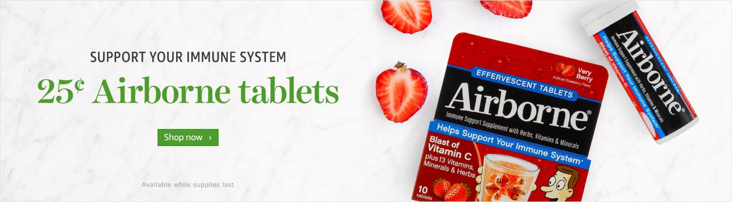 Airborne Effervescent Tablets - 10ct - Very Berry - Amazon Fresh $0.25
