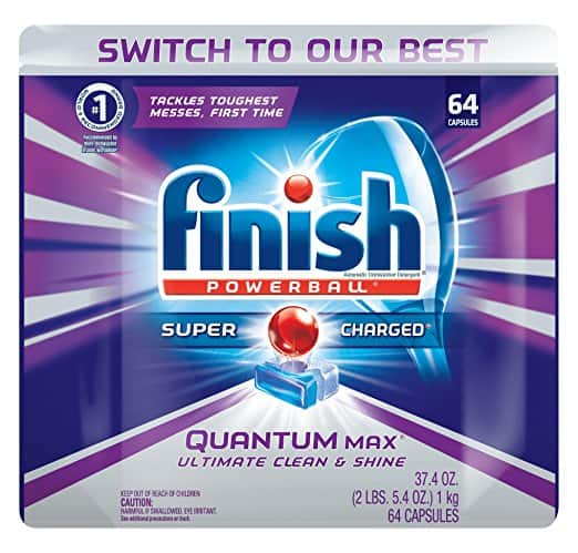 64-Count Finish Powerball Quantum Max Dishwasher Detergent Tablets $7.89