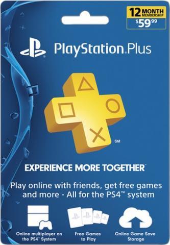 1-Year PlayStation Plus Membership (Digital Delivery) $49.98