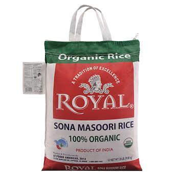 Royal Organic Sona Masoori Rice, 20 lbs on SALE in STORE only $11.5 B&M YMMV