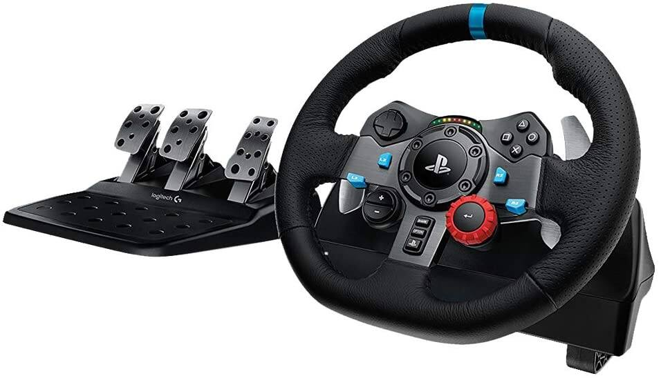 Logitech Dual-Motor Feedback Driving Force G29 Gaming Racing Wheel with Responsive Pedals for PlayStation 4 and PlayStation 3 [Wheel/Pedals Only, PC + PS4 Compatible] $235