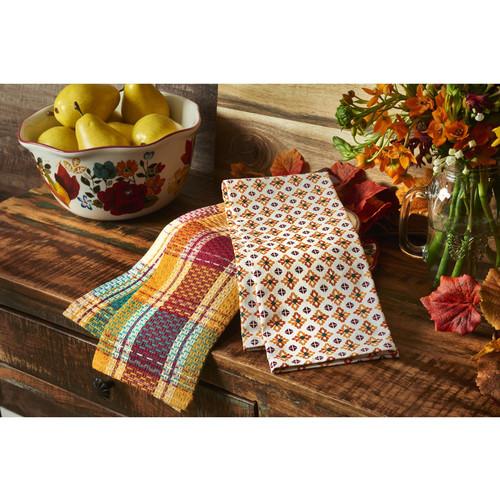 Pioneer Woman Vintage Geo Kitchen Towels, Pack of 4 $11.98 at Walmart