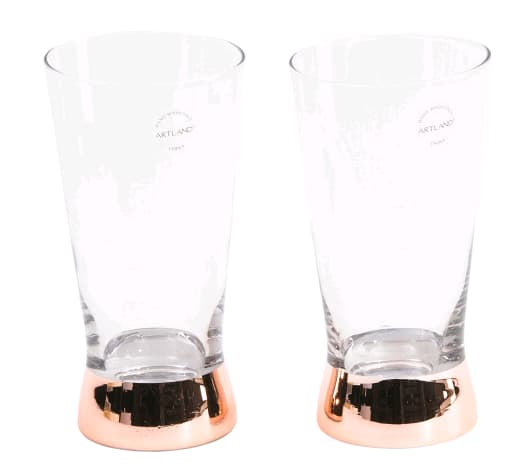 Set Of 2 Coppertino Highball Glasses on sale for $9.99