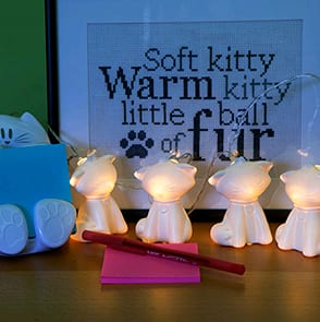 Cat Fairy Lights on sale for $2.99