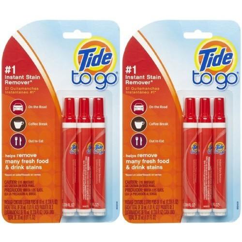Tide To Go Instant Stain Remover Liquid Pen, 3 Count $3.94 @amazon