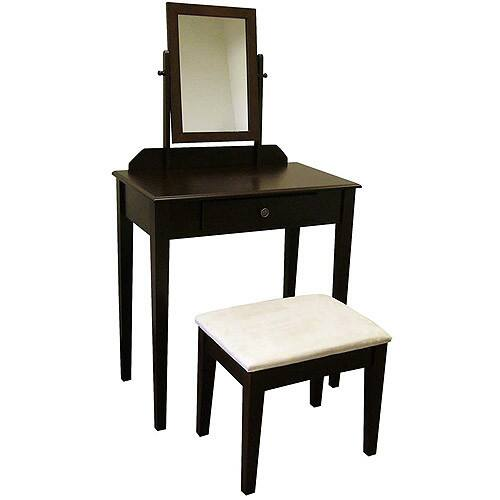 Kennedy 3-Piece Bedroom Vanity Set, Espresso $65.00 at Walmart