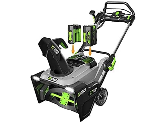 EGO Power+ SNT2102 21-Inch 56-Volt Cordless Snow Blower with Peak Power (Includes 2x 5.0Ah Batteries + Charger) $364.55