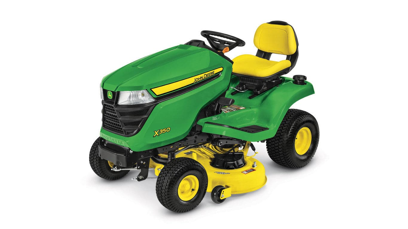 $500 off any new John Deere X300 & X700 series lawn tractor mowers
