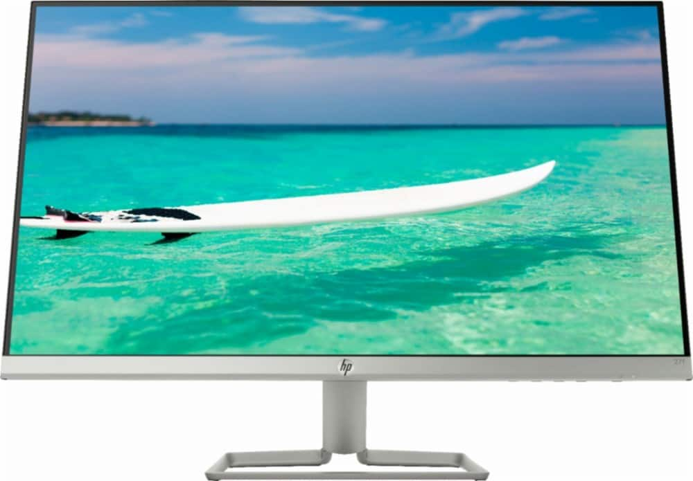 "BB Early Access - HP - 27f 27"" IPS LED FHD FreeSync Monitor - Natural Silver $129.99"