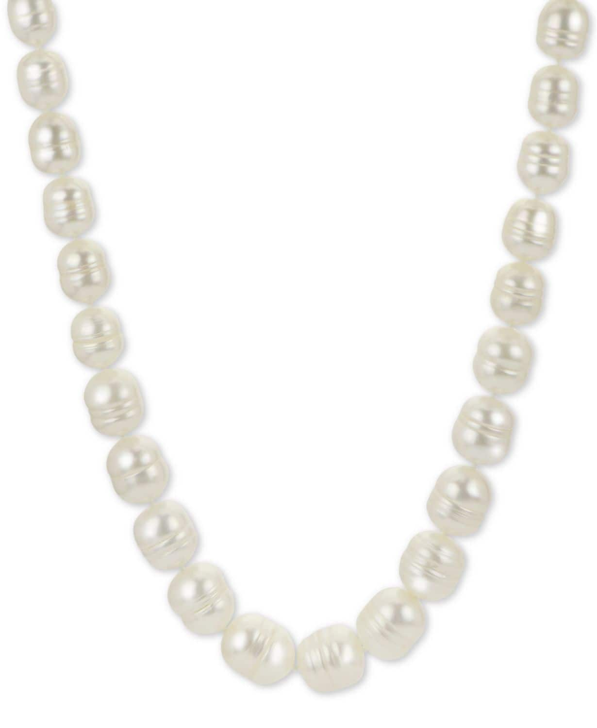 """Baroque Cultured Freshwater Pearl 18"""" Necklace (5-1/5 -9-1/2mm) in Sterling Silver $20.79"""