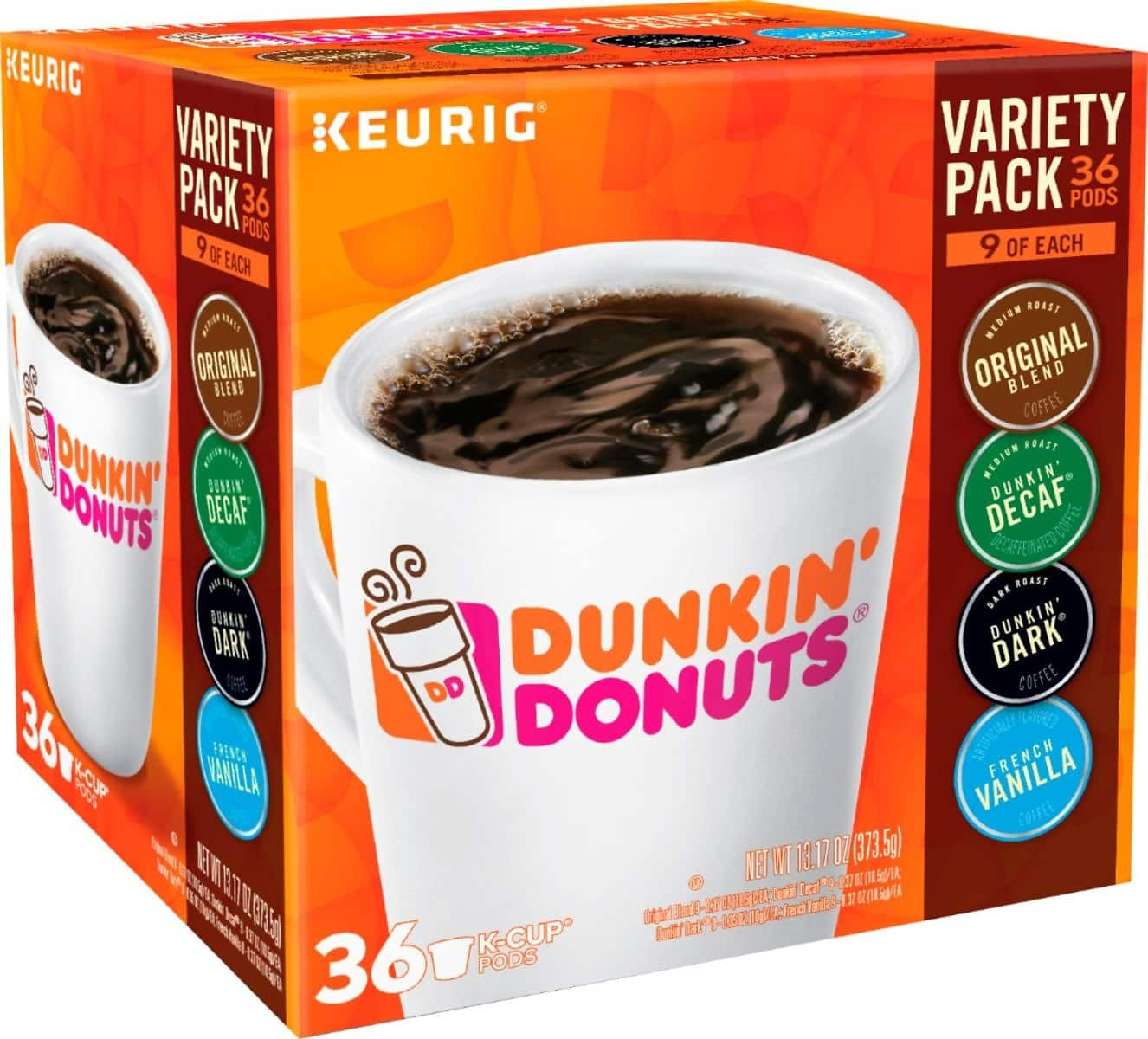 Dunkin' Donuts - Variety Pack K-Cup Pods (36-Count) - Multi $14.99
