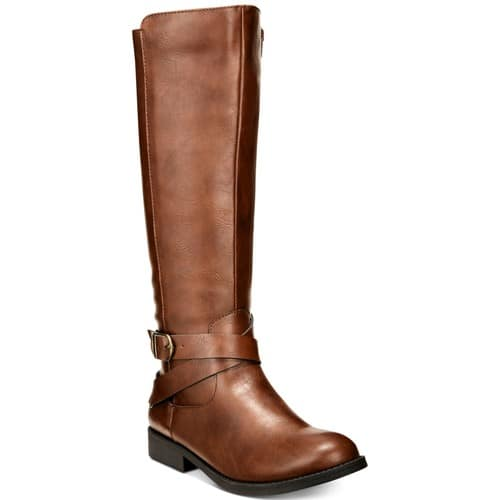 Style & Co Madixe Riding Boots, Created for Macy's, Black/Cognac $23.93 + ship