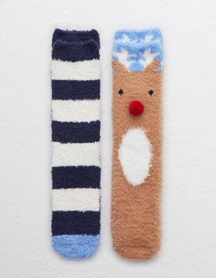 Aerie Fuzzy Gifting Socks 2-Pack $9.57