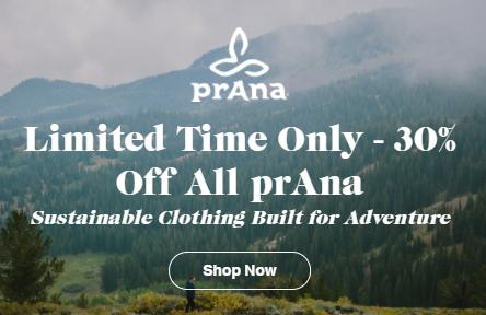 30% off Prana clothing at Backcountry
