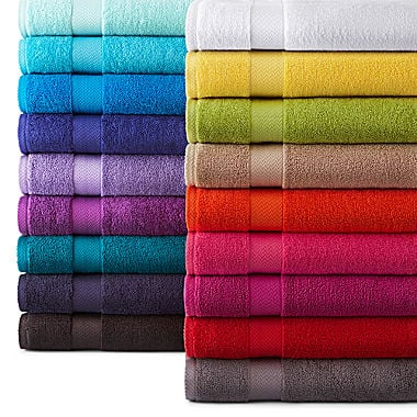 JCPenny Home Solid Bath Towels 74% off - $15.99