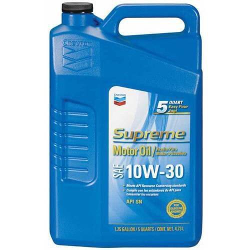 Chevron Supreme Motor Oil, 10W30 5 Quarts  (Walmart) $12.42