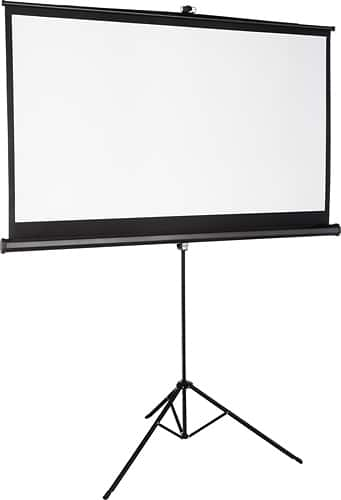 """Insignia™ - 75"""" Tripod Projector Screen - Black/White $49.99 + fs"""