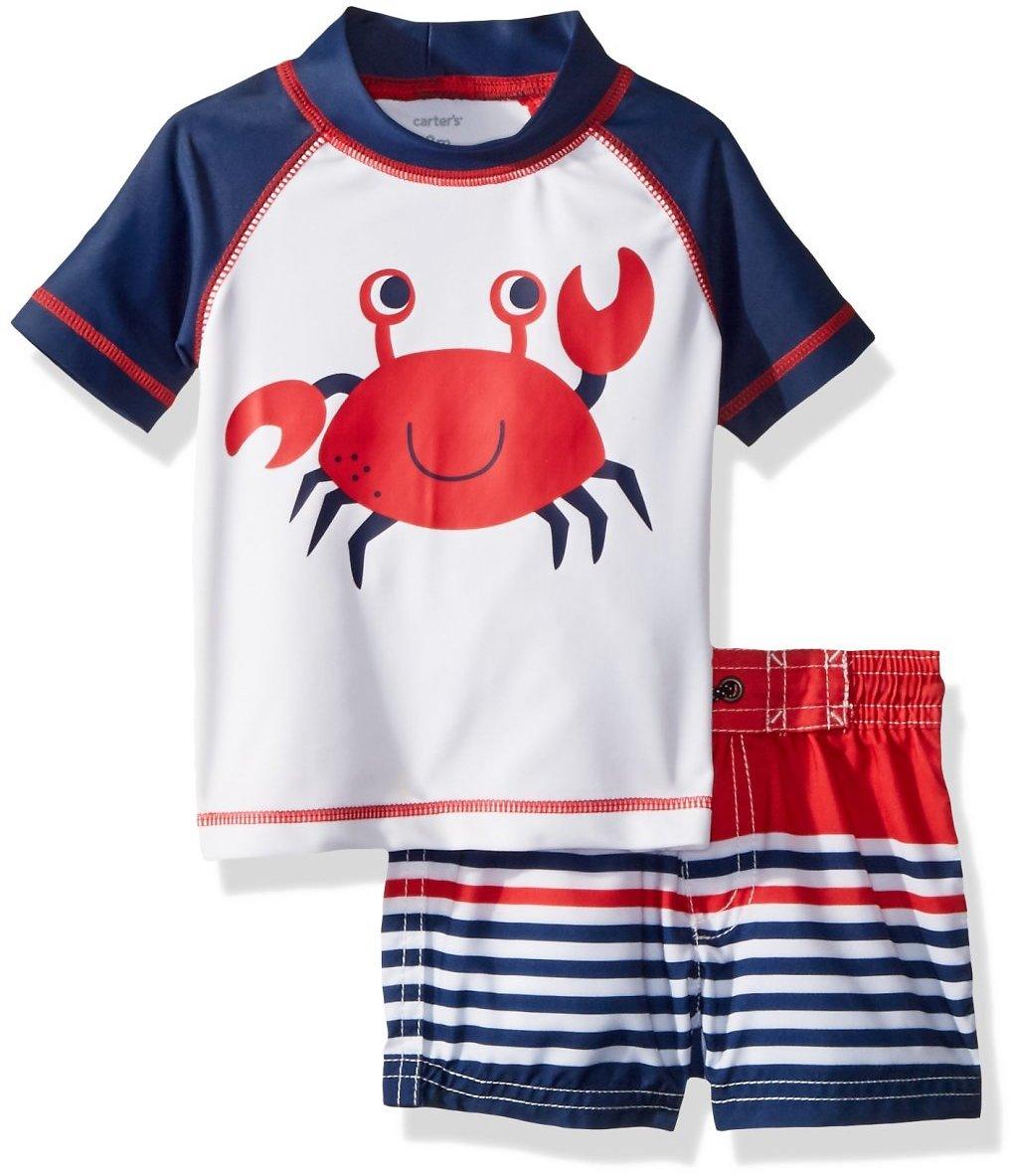 Carter's Baby Boys' Rashguard Set, Navy Crab $14.99 $15