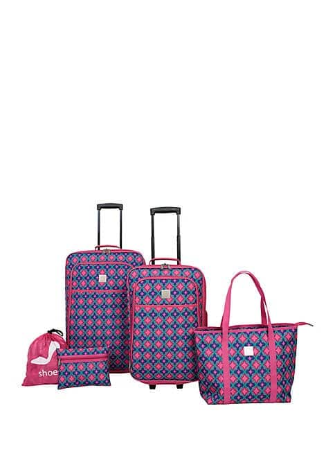 Pink Purple Abstract 5 Piece Set $53.98