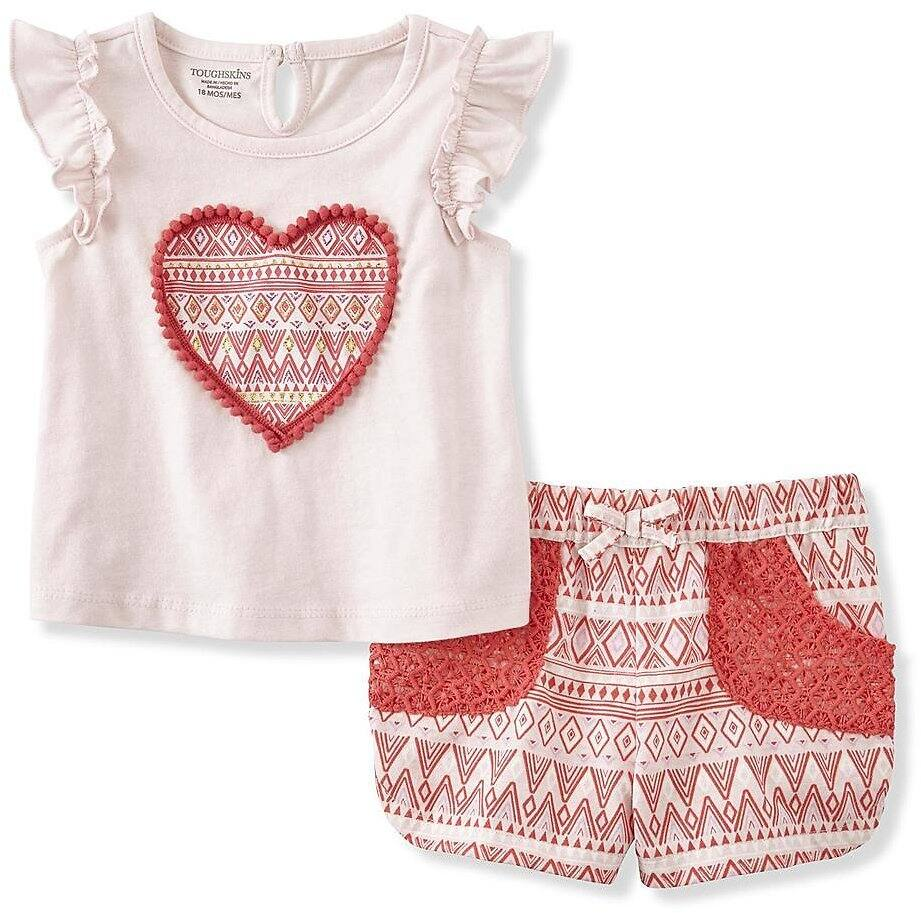 Toughskins Infant & Toddler Girls' Clothing Sets $3.97+