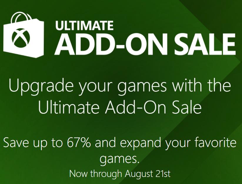 Xbox Ultimate Add-on Sale!      Season Passes like COD Infinite season pass 20% off  and many other add-ons and season passes currently on sale for Xbox.