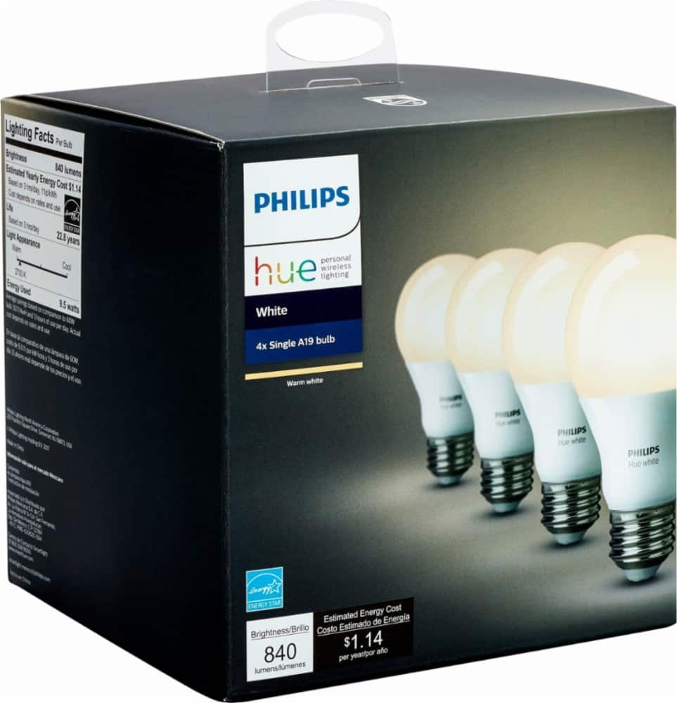 Philips Hue 4-Pack A19 White Bulb $33.96 Walmart In Store Only YMMV