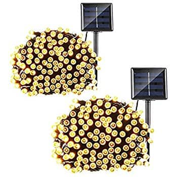 2 Pack - Solar Christmas String Lights, 72ft 200 LED Fairy Lights, 8 Modes Ambiance Lighting $11.99