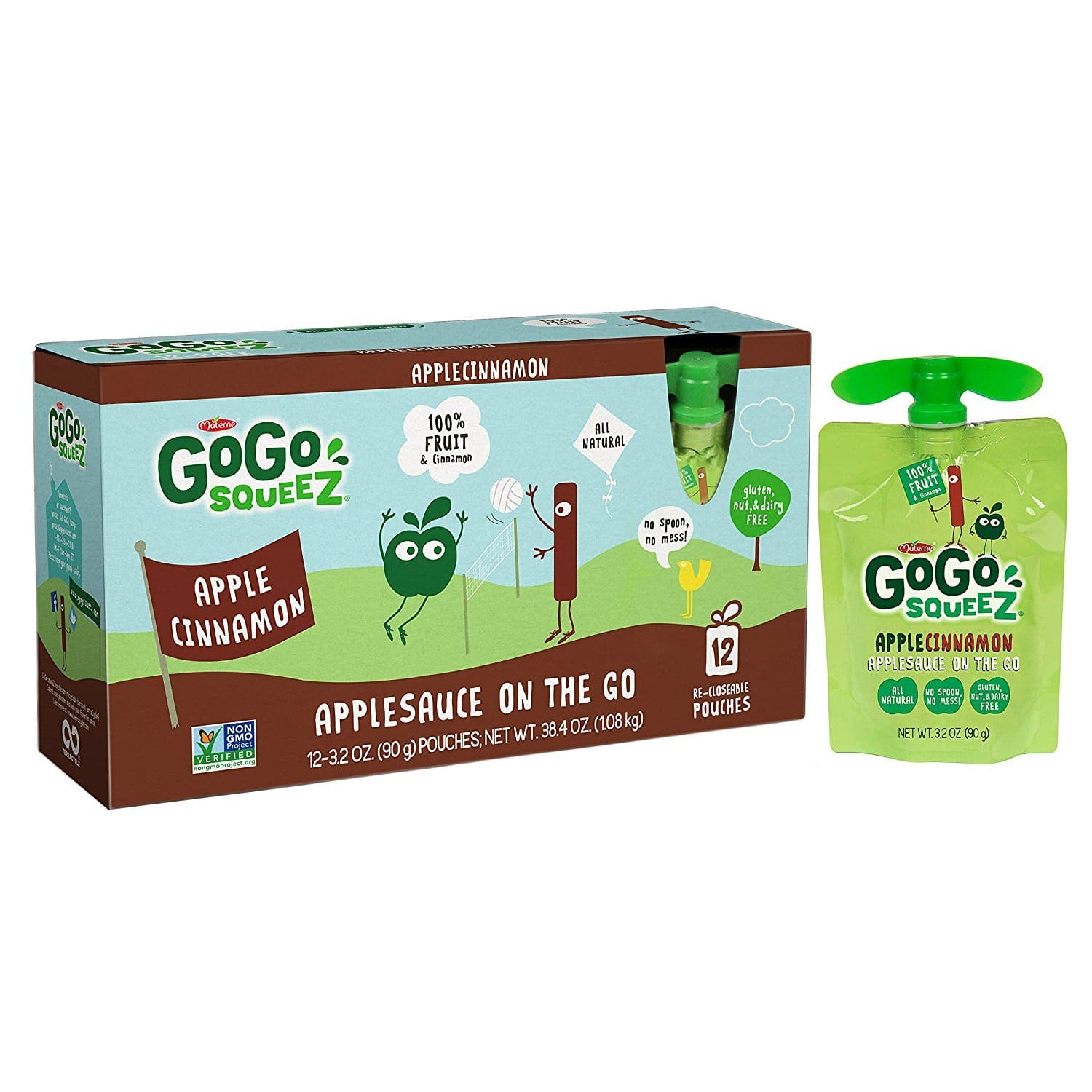 Add-on: GoGo squeeZ Applesauce on the Go (Apple Cinnamon), 48 Pouches (3.2oz each) - $7.90 shipped AC from Amazon (Prime members)