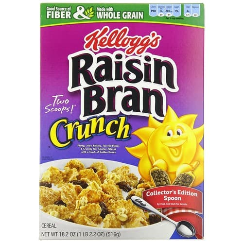 Raisin Bran Crunch Cereal, 18.2 -Ounce Boxes (Pack of 4) Add on Item $3.96