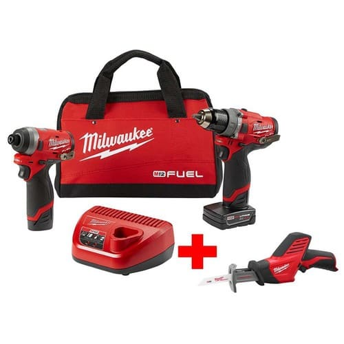 Milwaukee M12 Fuel 12 Volt Li Ion Brushless Cordless Hammer Drill And Impact Driver Combo Kit 2 Tool W Free Hackzall 229