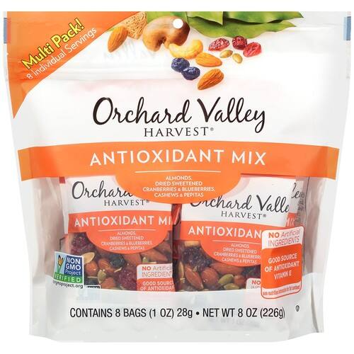 ORCHARD VALLEY HARVEST Antioxidant Mix Multi Pack, Non-GMO, No Artificial Ingredients, 8 ounces $4.54@Amazon