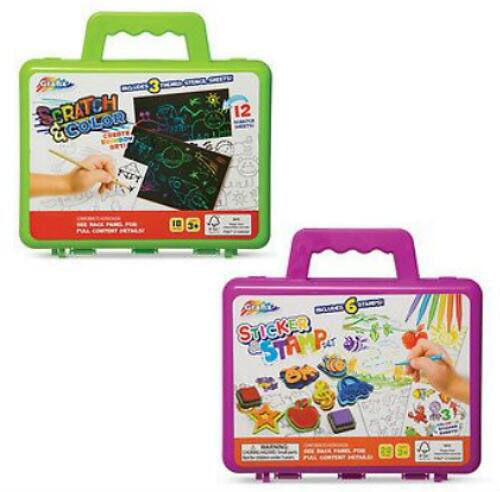 Scratch & Color or Sticker Stamp Carry Case $4.99