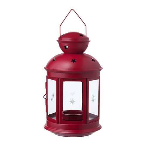 ROTERA  Lantern  for Tealight ,Indoor /outdoor Red $3.99