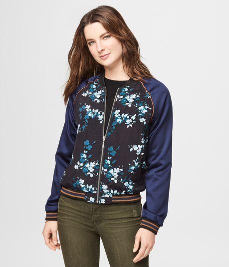 Floral Bomber Jacket $19.99