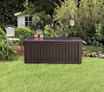 Keter Rockwood 150-Gallon Outdoor Plastic Storage Box $89.96