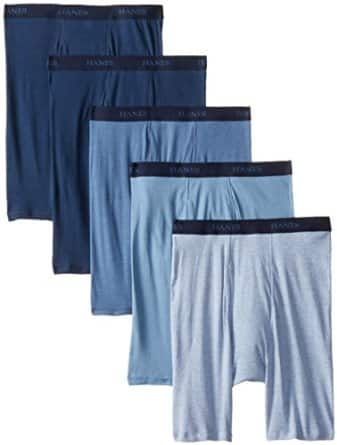 Hanes Men's Assorted Long Leg Boxer Briefs, Size Small ONLY (Pack of 5) - $4.82 (add-on item, free shipping with $25 order)