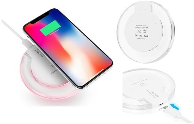 Qi Wireless Charger for IPhone X,8,8 Plus, Samsung Galaxy Note 8,S8,S7 for $9.99
