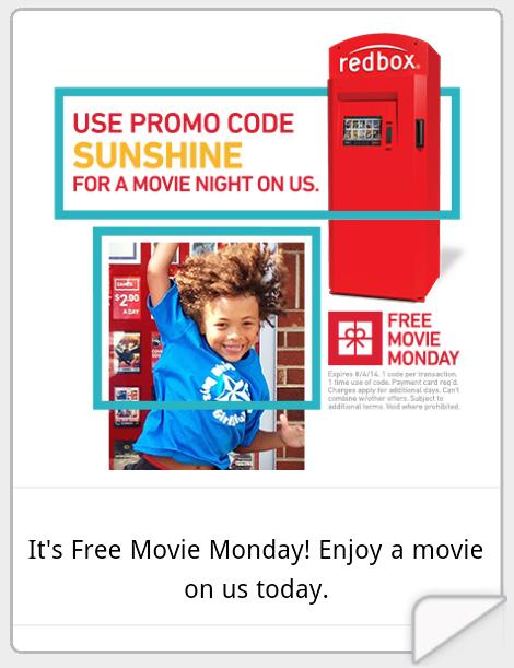 Redbox Free 1 day DVD/Bluray Rental or $1.50 off Game Rental