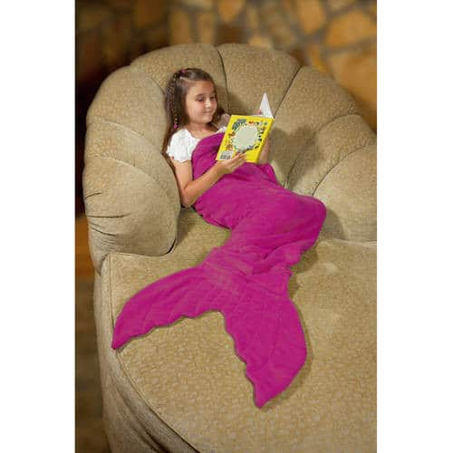 Down Home Mermaid Tail Coral Fleece Throw, Multiple Colors $9 + Free Shipping